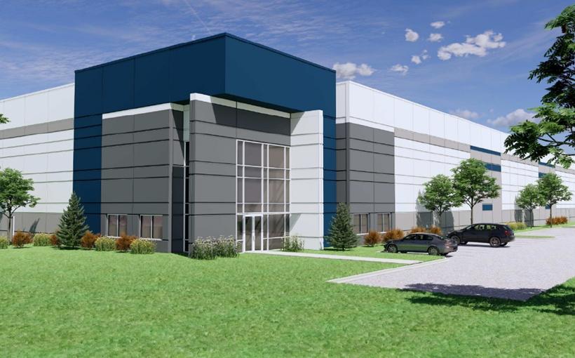 950 Ice Cream Dr. North Aurora IL warehouse rendering PCCP TDC