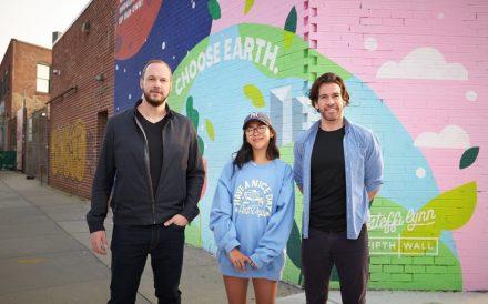 Fifth Wall Ventures mural Brooklyn Greg Smithies Steffi Lynn Brendan Wallace decarbonizing built environment proptech