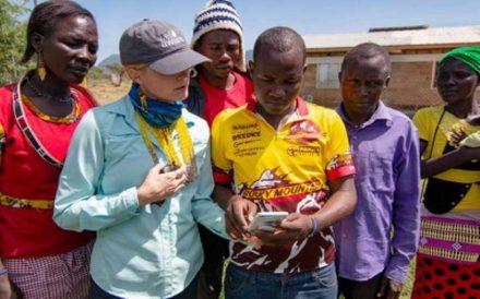 Sarah Evans with Alamach Villager