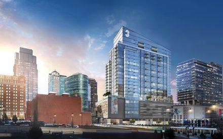 Three Light apartments Kansas City MO rendering Cordish Companies