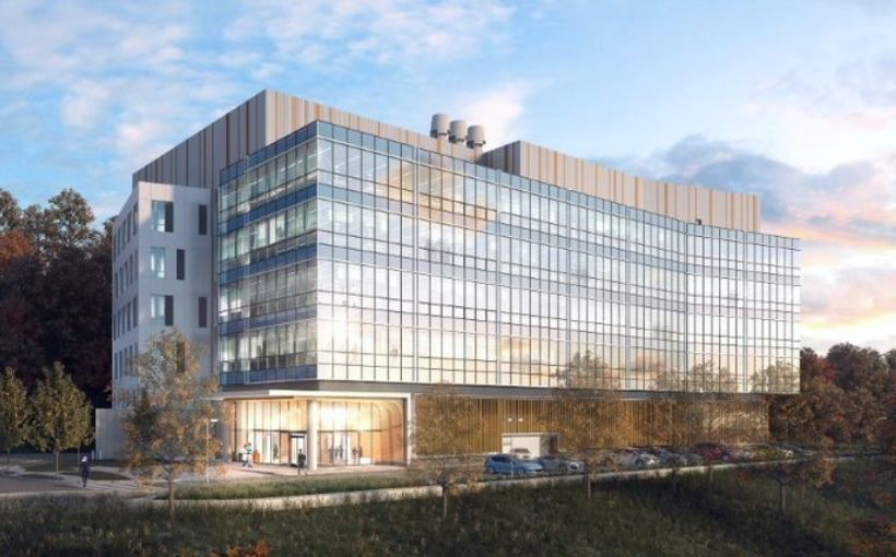 Newly completed life sciences building in Waltham, MA
