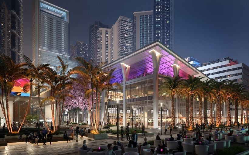 Miami Worldcenter at Night, Miami