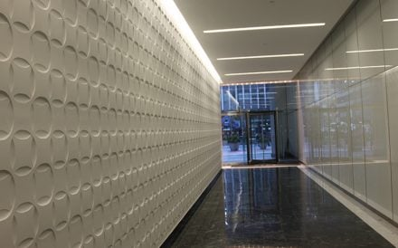1412 Broadway lobby Manhattan Nucor Construction