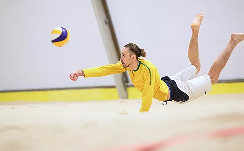 QBK Sports indoor beach volleyball Long Island City