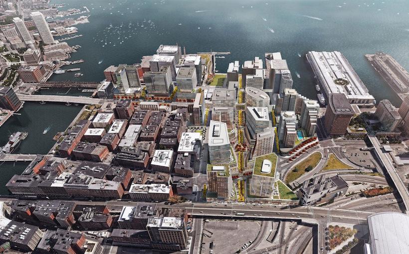 Boston Seaport aerial